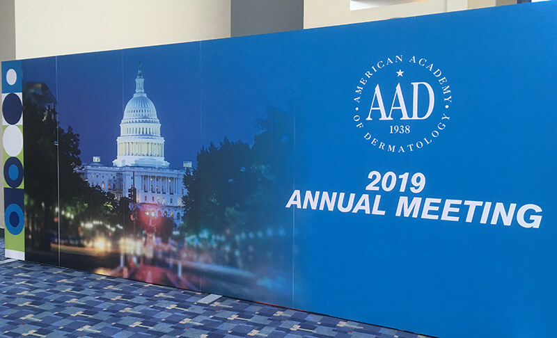 2019 AAD annual meeting in Washington, DC