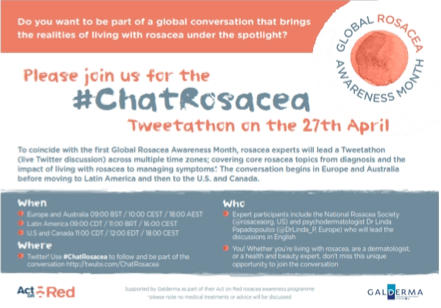 Global Rosacea Awareness Month Tweetathon