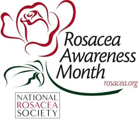 Rosacea Awareness Month logo
