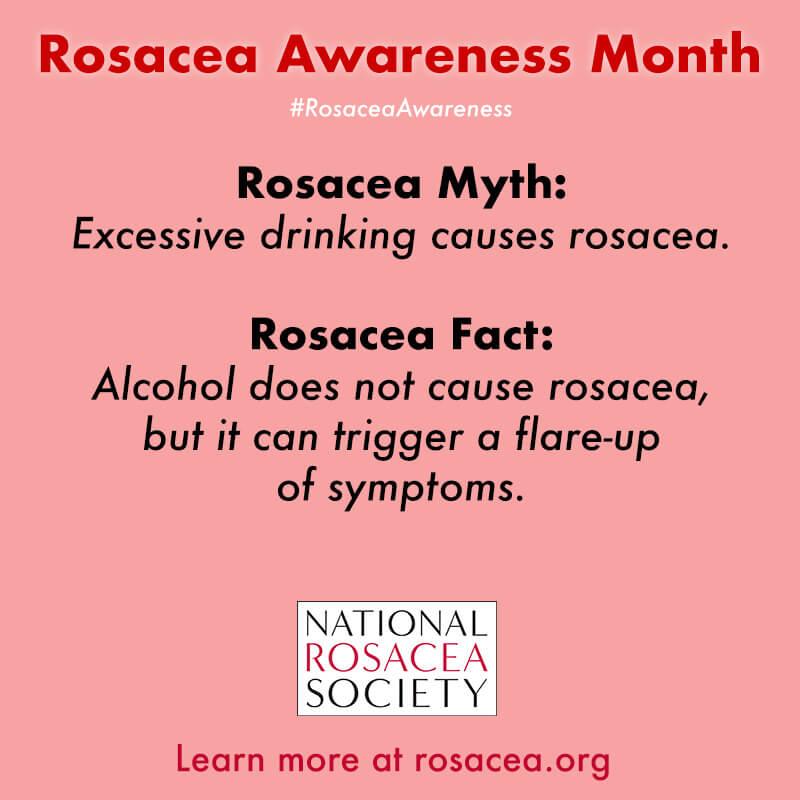 Rosacea Myth: Alcohol