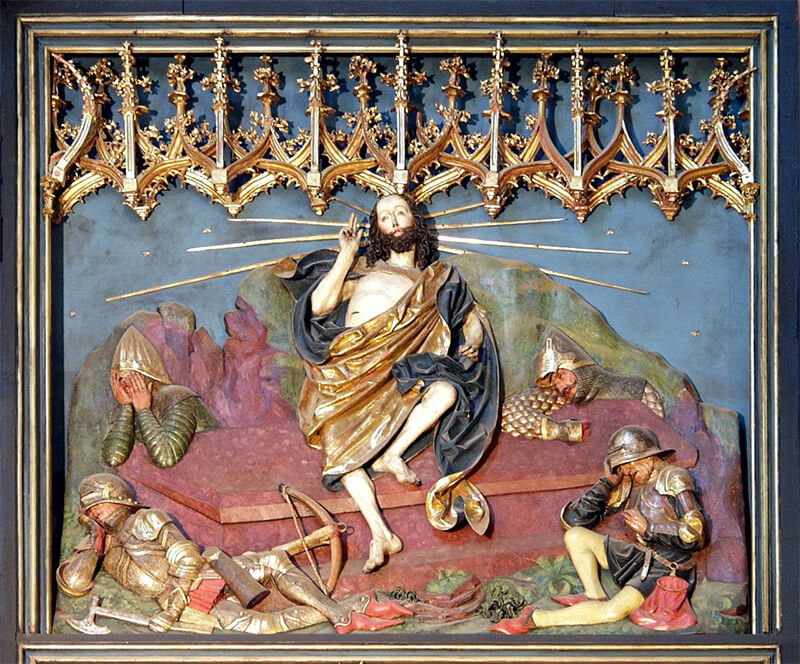 Resurrection of Jesus altar by Veit Stoss